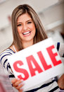 Woman on shopping sale Royalty Free Stock Photo