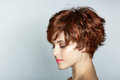 Woman with short haircut Royalty Free Stock Photo