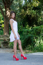 Woman In Short White Dress, Lu...