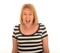 Woman shouting Royalty Free Stock Photo