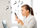 Woman shouting into smartphone Royalty Free Stock Photo