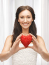 Woman showing heart shape Stock Photos