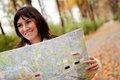 Woman sightseeing Stock Photography