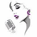 WOMAN SINGING Royalty Free Stock Photo