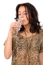 Woman sipping champagne Stock Image