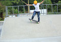 Woman skateboarders riding on a skateboard park Royalty Free Stock Photography
