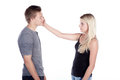 Woman is slap a man Royalty Free Stock Photo