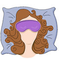 Woman with sleeping mask an image of a wearing a Royalty Free Stock Photography