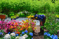 Woman Smelling The Flowers At ...
