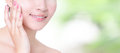Woman smile mouth with health teeth close up Royalty Free Stock Photo