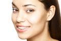 Woman smile teeth whitening dental care beautiful Royalty Free Stock Image