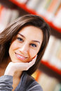 Woman smiling headshot with friendly look Royalty Free Stock Photography