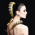 Woman with Snake on her hair