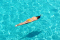 Woman snorkeling Stock Images