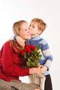 Žena syn z ruže
