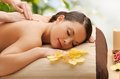 Woman in spa beauty holidays and concept salon getting massage Royalty Free Stock Photography