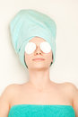 Woman at spa procedures Stock Images