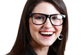 Woman in spectacles closeup picture of lovely Royalty Free Stock Photo