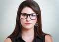 Woman in spectacles closeup picture of lovely Stock Photography