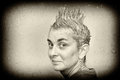 Woman with spiky hair portrait of a shampooed Royalty Free Stock Image