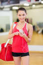 Woman With Sports Bag, Smartph...