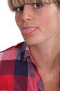 Woman sticking her tongue out closeup of young Royalty Free Stock Photo