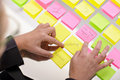 Woman with sticky notes Royalty Free Stock Image