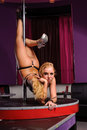 Woman in strip club Royalty Free Stock Photography