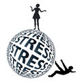 Woman stronger than man women can cope with extreme stress situations far better men Royalty Free Stock Image