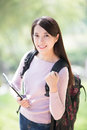 Woman student with digital tablet Royalty Free Stock Photo
