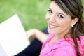 Woman studying at the park Royalty Free Stock Images