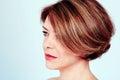 Woman with stylish haircut Royalty Free Stock Photo