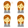 Woman in suit expressions file Royalty Free Stock Photography