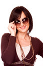 Woman with sunglasses Royalty Free Stock Images