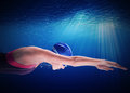 Woman swimmer Royalty Free Stock Photo