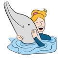 Mujer delfín