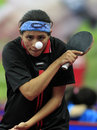 Woman table tennis Royalty Free Stock Images