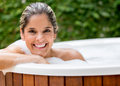 Woman taking a bath Royalty Free Stock Photo