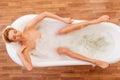 Woman taking a bath Royalty Free Stock Photo