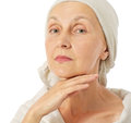 Woman taking care about her skin matured Royalty Free Stock Photos