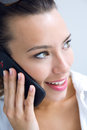 Woman talking on the mobile phone young Royalty Free Stock Image