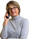 Woman talking on the phone Stock Photo
