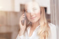 Woman talking on the phone Royalty Free Stock Photo