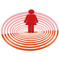 Woman target Royalty Free Stock Photos