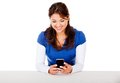 Woman texting Royalty Free Stock Photos