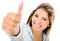 Woman with thumbs up Royalty Free Stock Photo