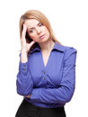 Woman  tilt head and has got an headache Royalty Free Stock Images