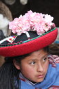 Woman in traditional clothing peruvian Stock Photo