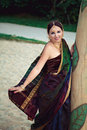 Woman in traditional indian clothing Royalty Free Stock Photo