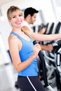 Woman training at the gym Stock Images